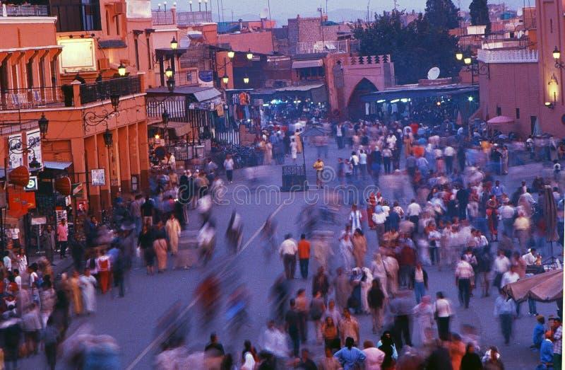 djemaa el fnaa广场 库存照片