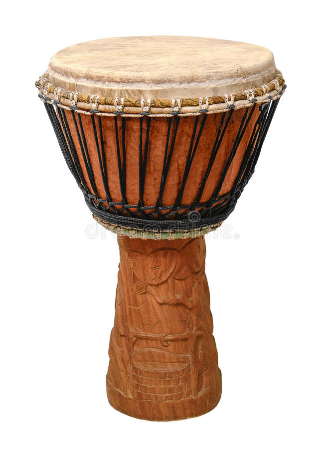 Djembe africain traditionnel image libre de droits