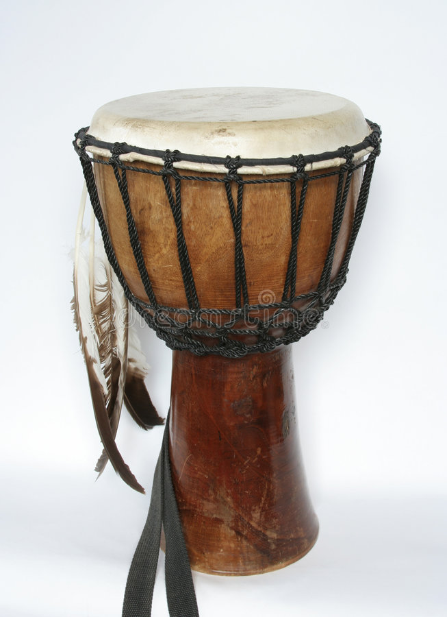 Djembe drum. On the white background stock images