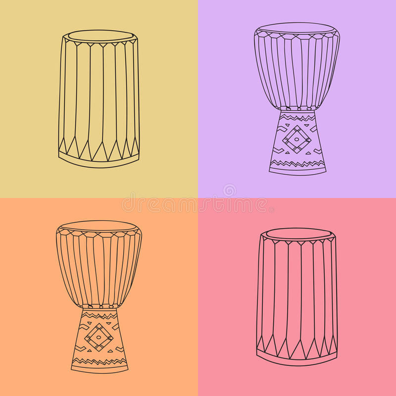 Djembe And Dunumba Stock Vector Illustration Of Classical 63269602