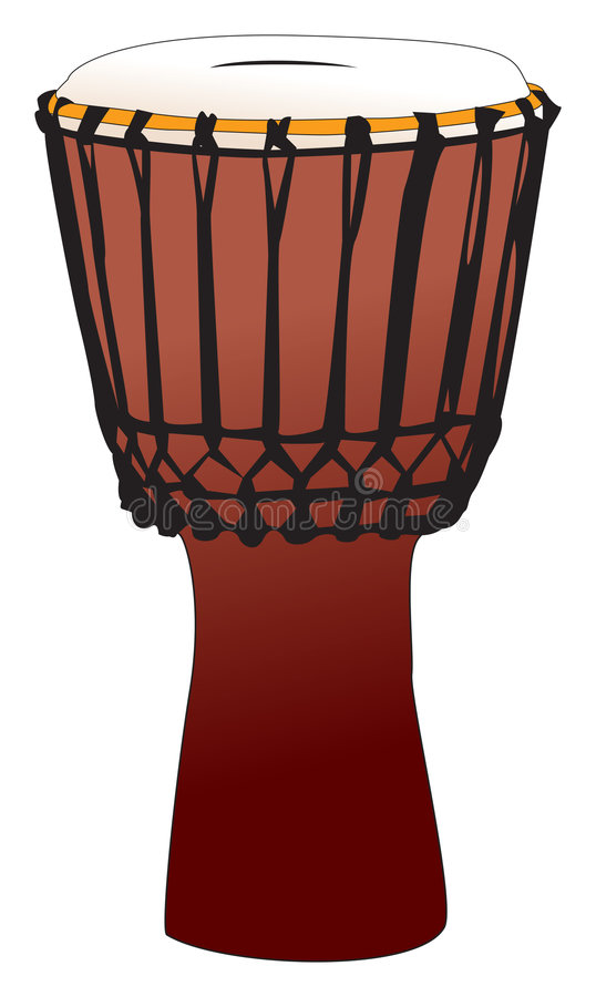 Djembe - tamtam percussietrommel stock illustratie