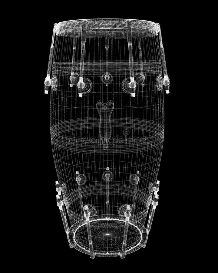Djembe-Trommel-Nut stockfotografie