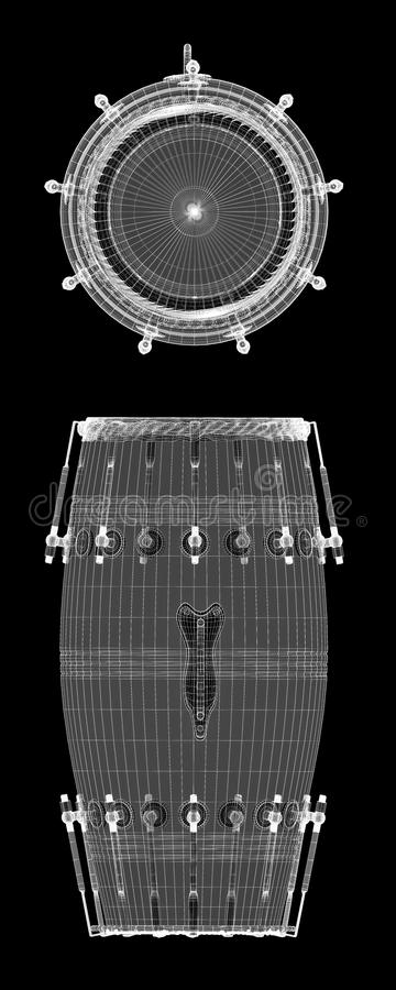 Djembe-Trommel-Nut lizenzfreie abbildung