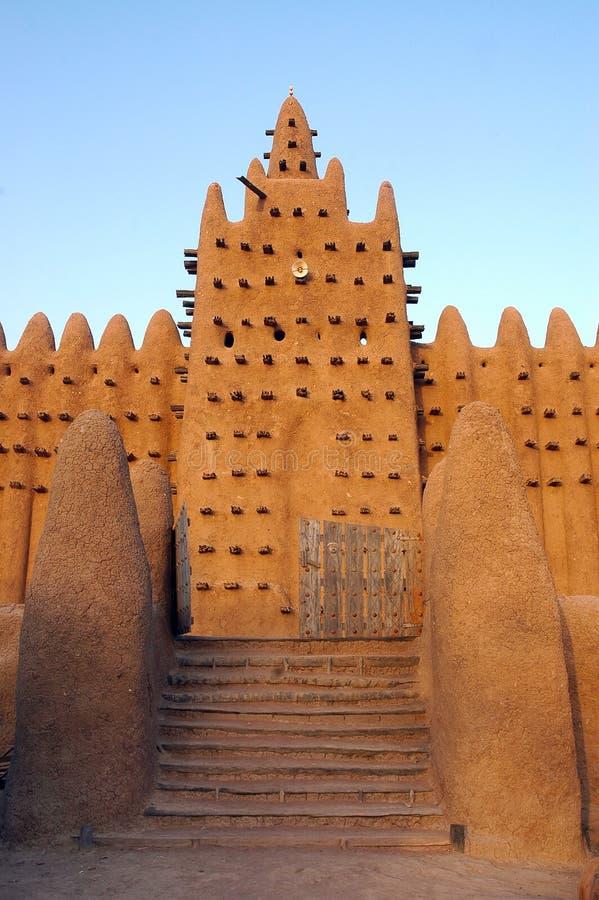 djenne frontowej bramy minaretu meczet zdjęcia royalty free