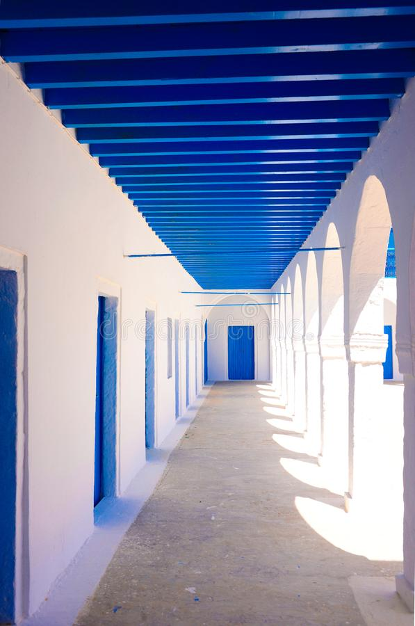 Djerba Ghriba Synagogue Rooms Corridor, Travel Tunisia, Religion, Jewish royalty free stock images