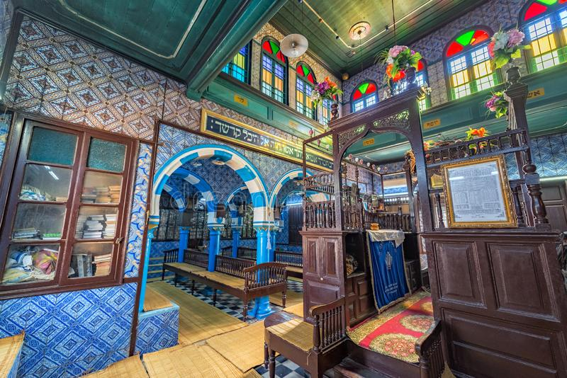 La Ghriba Synagogue in Djerba, Tunisia stock photo