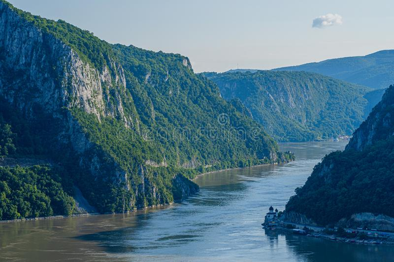 Djerdap Gorge - Danube. Djerdap gorge - A narrow part of the Danube in Serbia royalty free stock photos