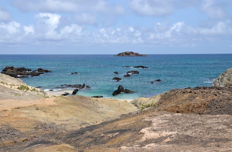Djeu en zijn vele eilandjes stock afbeelding