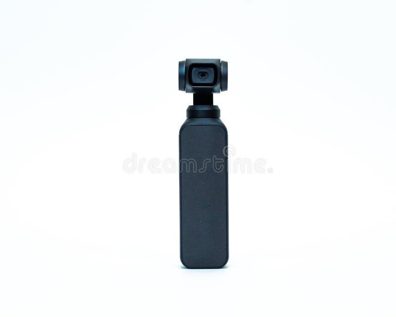 DJI Osmo Pocket Camera Isolated su fondo bianco Front View fotografia stock