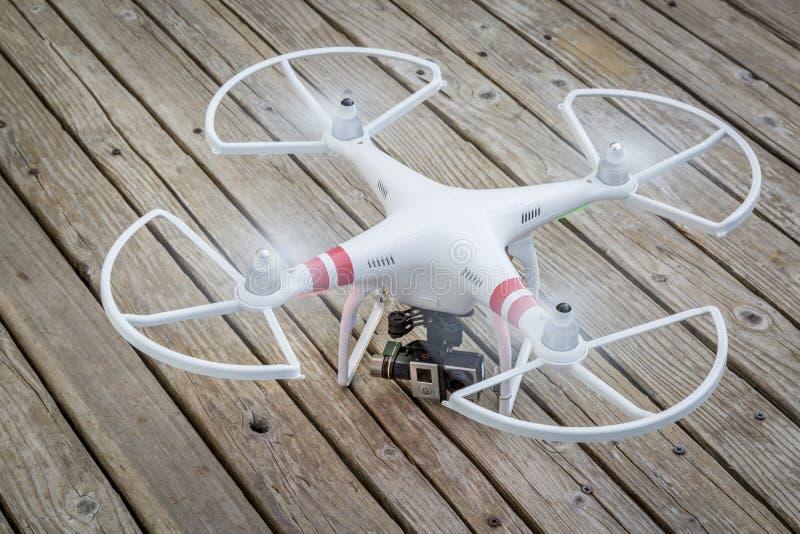 DJI Phantom quadcopter drone stock images