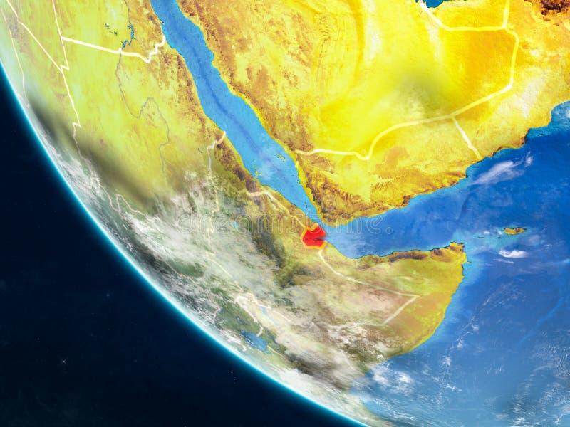 Djibouti del espacio en la tierra libre illustration