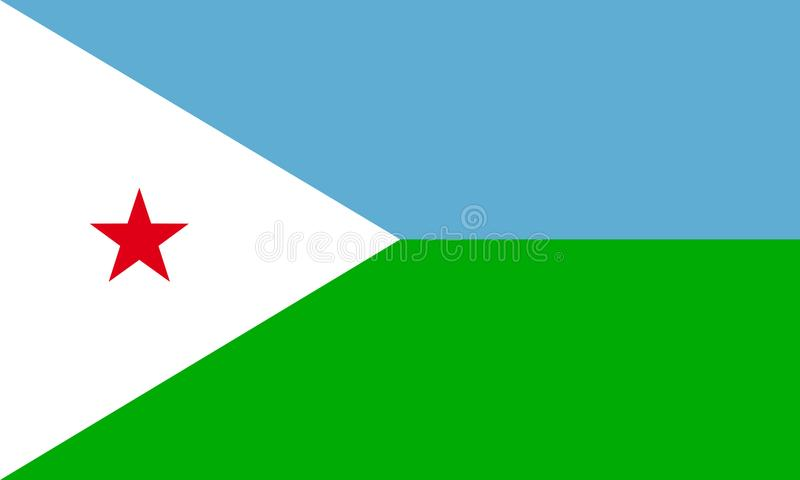 Djibouti. Flag; from vector collection stock illustration