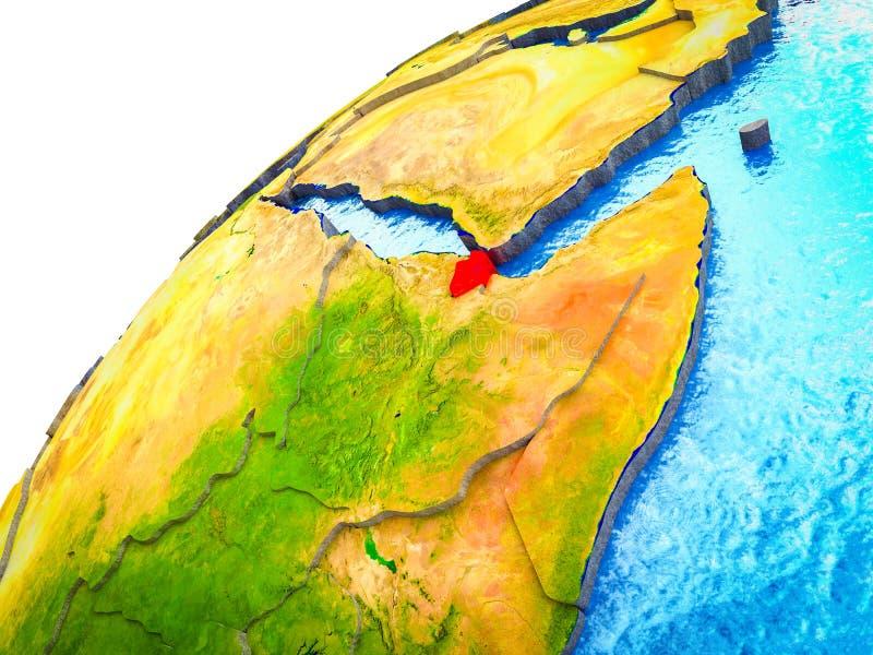 Djibouti en la tierra 3D stock de ilustración