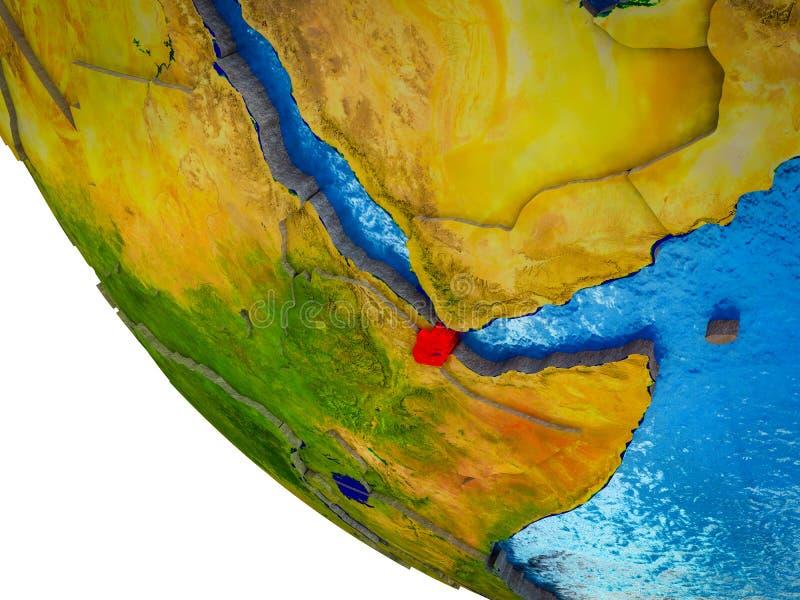 Djibouti en la tierra 3D libre illustration