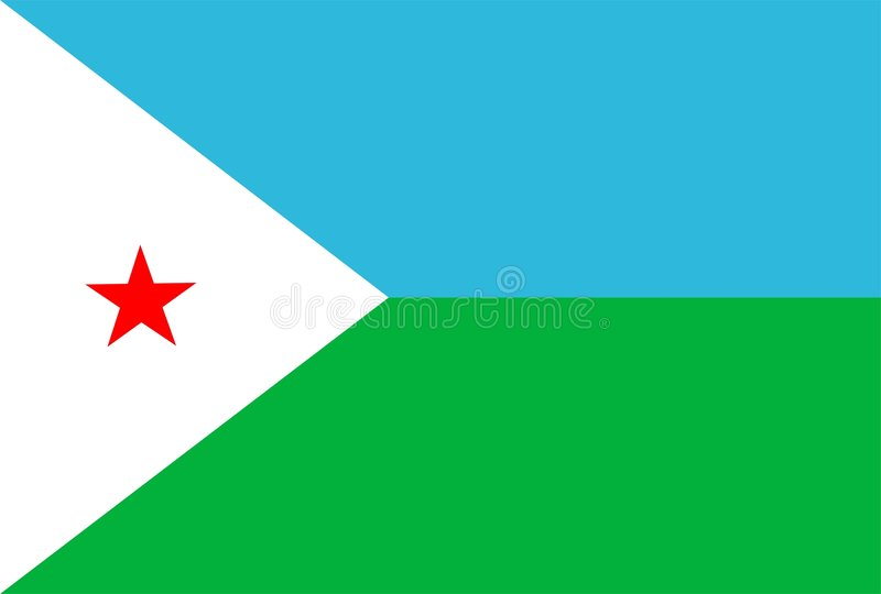 Djibouti Flag royalty free illustration