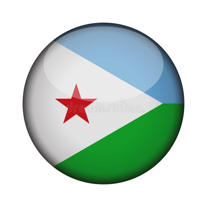 Flag in glossy round button of icon. vector illustration