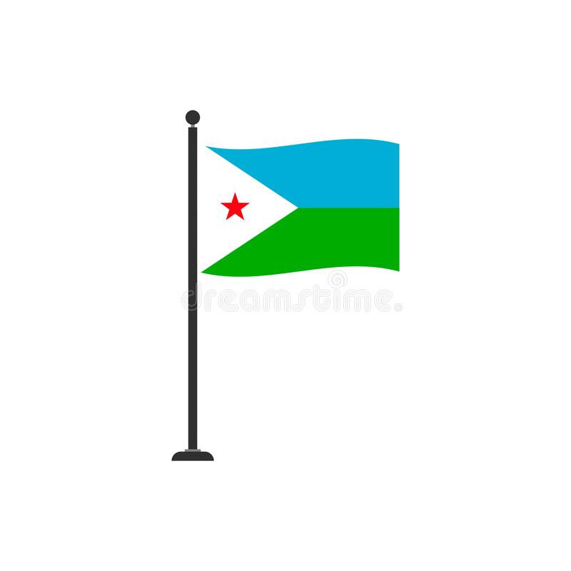 Djibouti flag vector isolated 4. Eps10 vector illustration