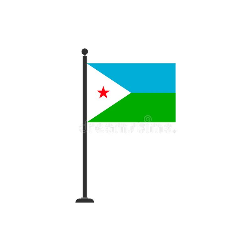 Djibouti flag vector isolated 3. Eps10 royalty free illustration