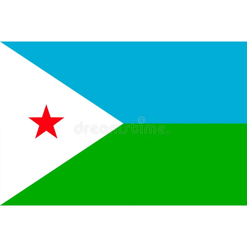 Djibouti flag vector isolated. Eps10 stock illustration