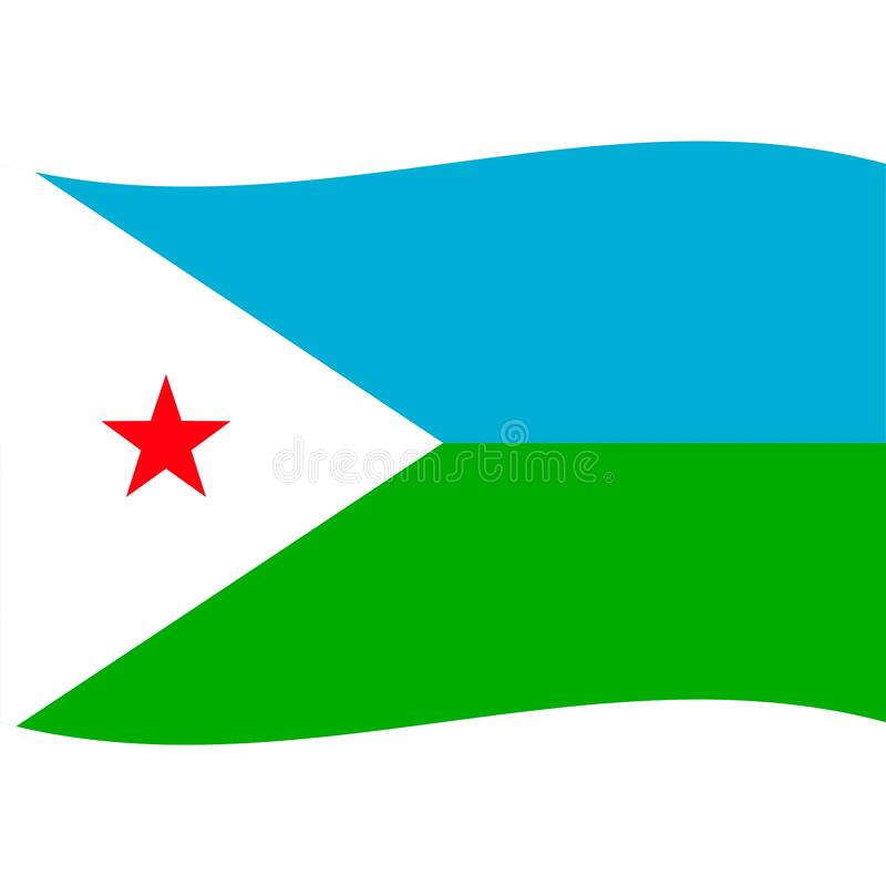 Djibouti flag vector isolated 2. Eps10 vector illustration