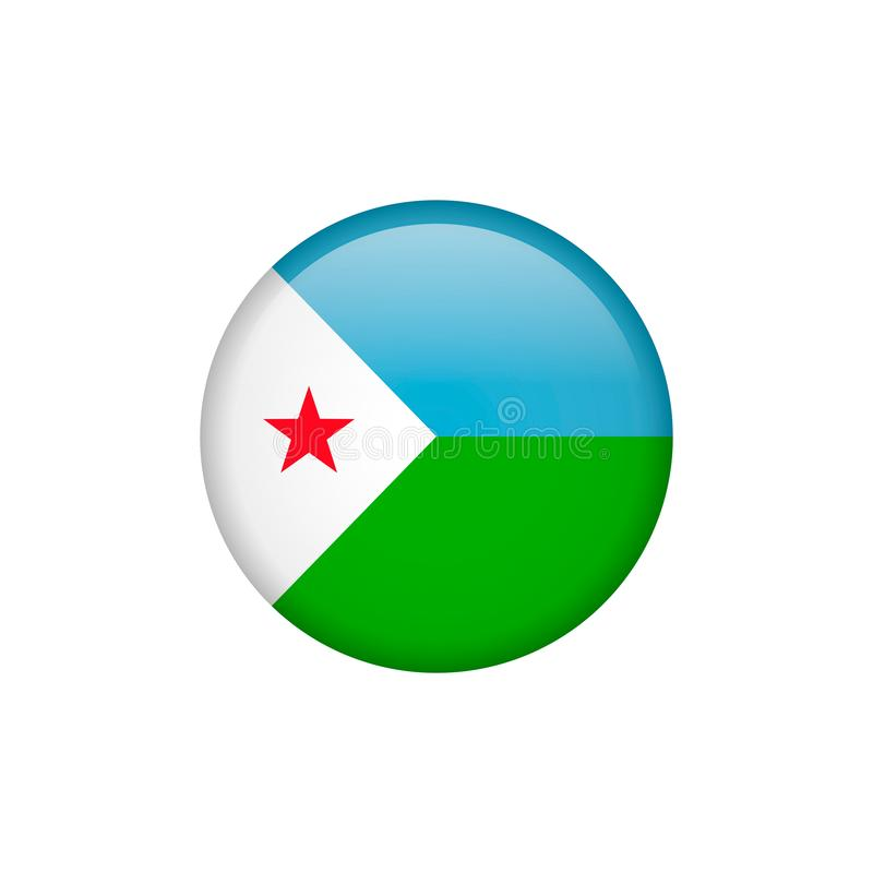 Djibouti flag vector isolated 5. Png vector illustration