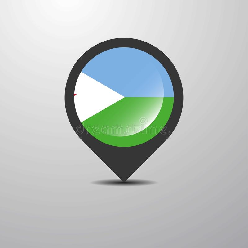 Djibouti Map Pin. This Vector EPS 10 illustration is best for print media, web design, application design user interface and infographics with well composed stock illustration