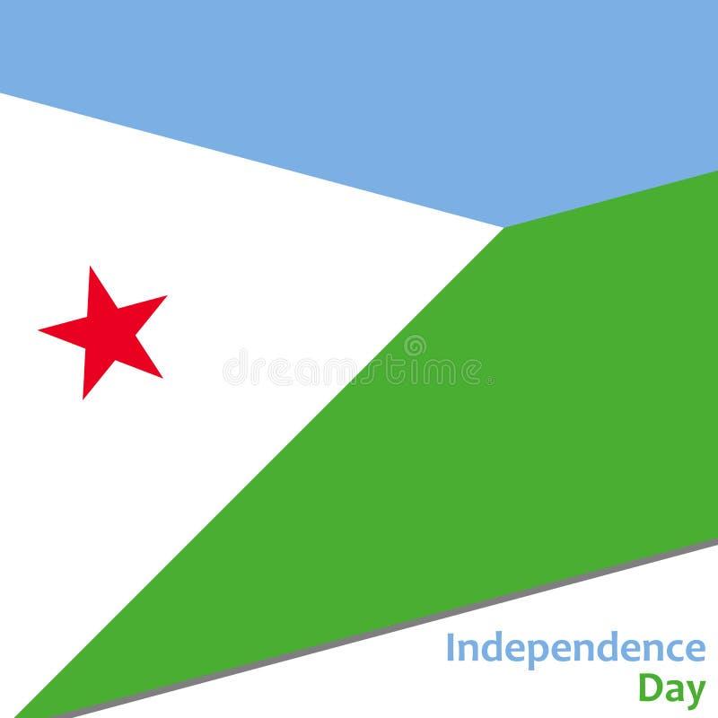 Djibouti självständighetsdagen royaltyfri illustrationer