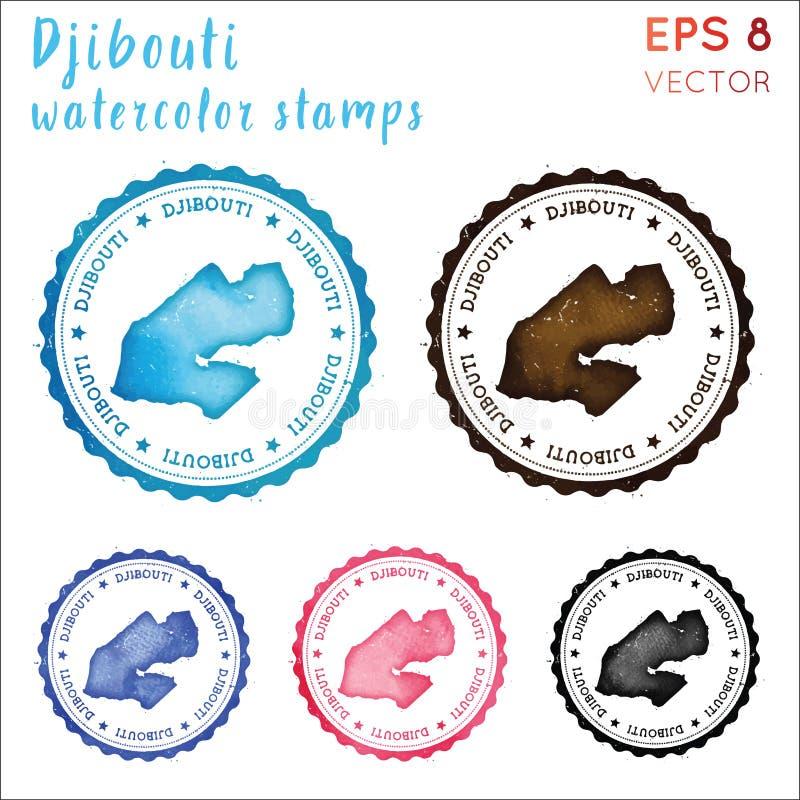 Djibouti znaczek ilustracji