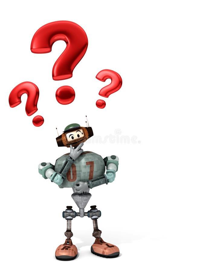 Djoby der Roboter überrascht und besorgt stock abbildung