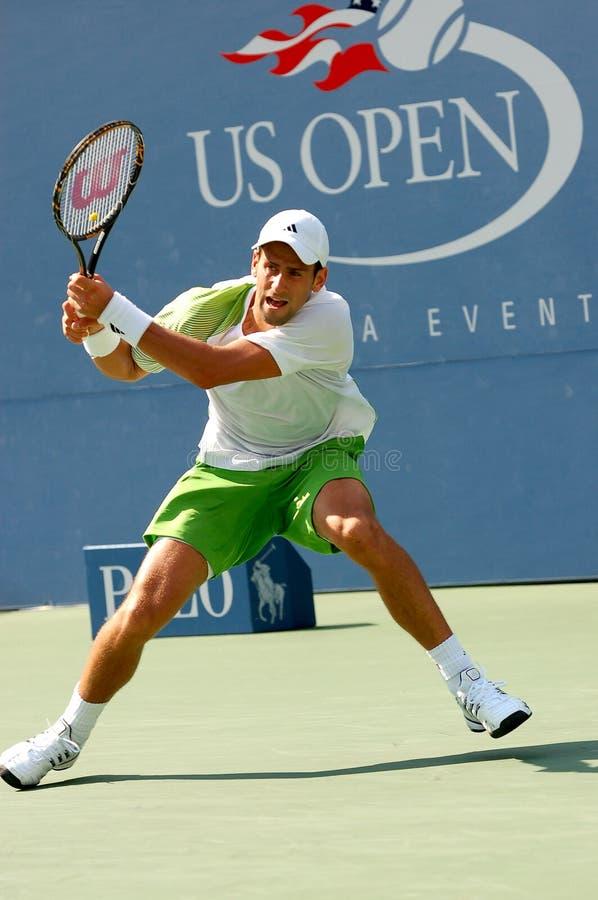 Djokovic Novak dans QF des USA ouvrent 2008 (169) photos stock