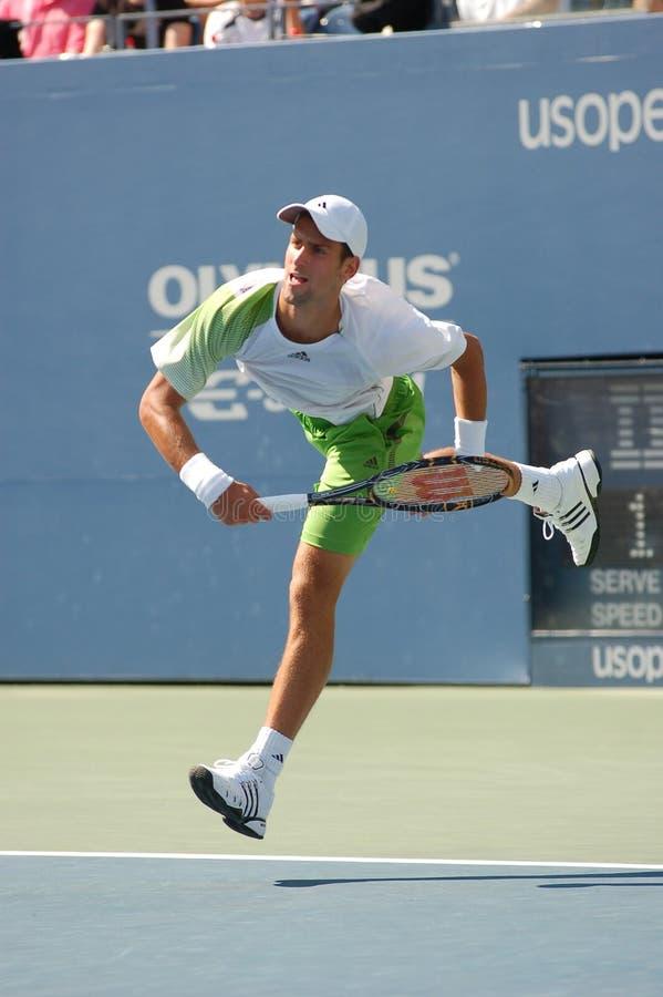 Djokovic Novak dans QF des USA ouvrent 2008 (71) images libres de droits