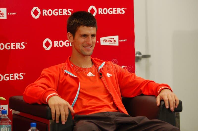 Djokovic Novak (SRB) an Rogers-Cup 2008 (10) lizenzfreie stockfotografie