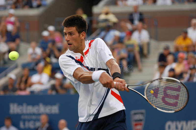 Djokovic Novak in US öffnen 2007 (108) lizenzfreie stockfotos