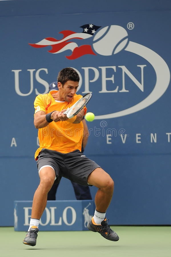 Djokovic Novak at US Open 2009 (9) royalty free stock photography