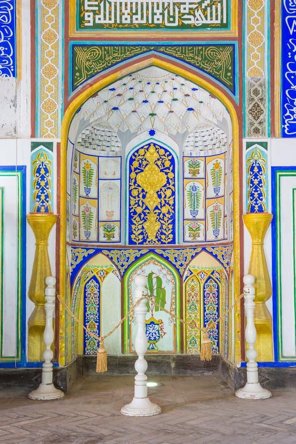 Djome-Moschee in der Archefestung von Bukhara, Usbekistan lizenzfreie stockfotografie