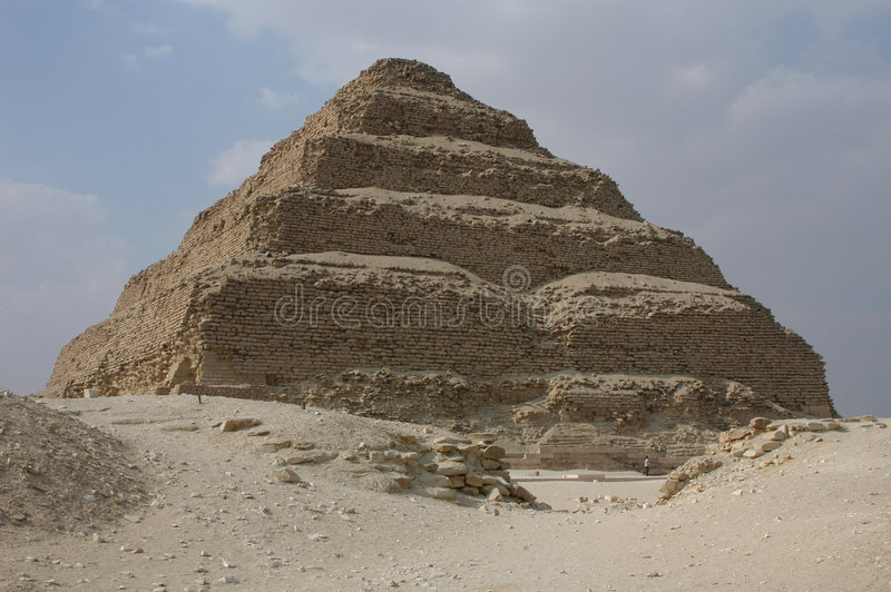 djoser国王金字塔步骤 图库摄影