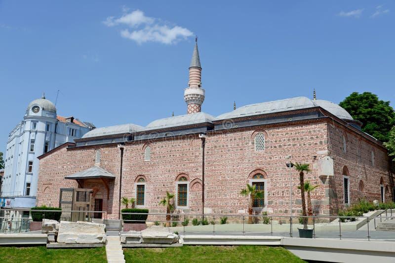 Djumaya清真寺在普罗夫迪夫 图库摄影