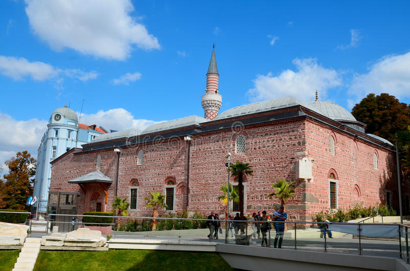 Djumaya Mosque. PLOVDIV BULGARIA SEPT 18: Djumaya Mosque or Ulu Mosque, is a precious architectural monument in Plovdiv that gives an idea of the old settlement stock photo