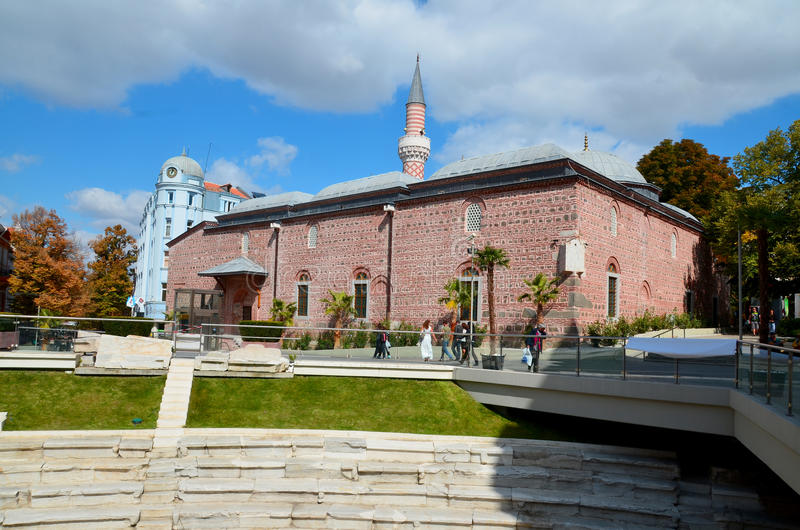 Djumaya Mosque. PLOVDIV BULGARIA SEPT 18: Djumaya Mosque or Ulu Mosque, is a precious architectural monument in Plovdiv that gives an idea of the old settlement royalty free stock image
