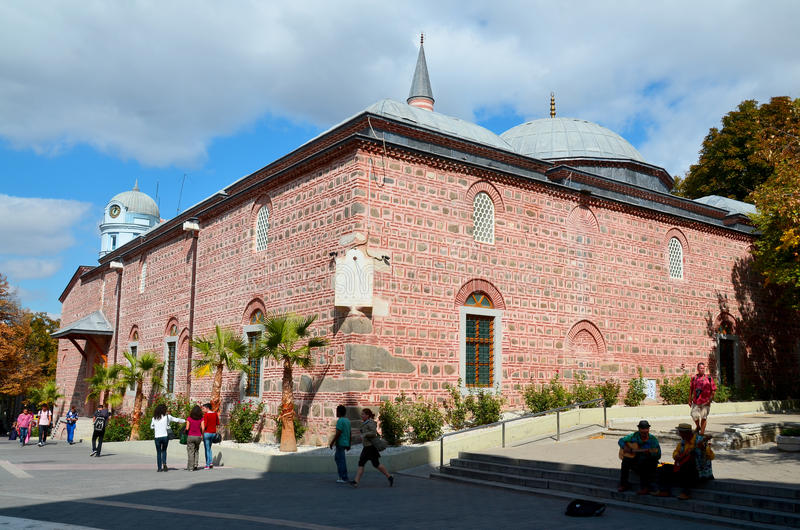 Djumaya Mosque. PLOVDIV BULGARIA SEPT 18: Djumaya Mosque or Ulu Mosque, is a precious architectural monument in Plovdiv that gives an idea of the old settlement royalty free stock photos