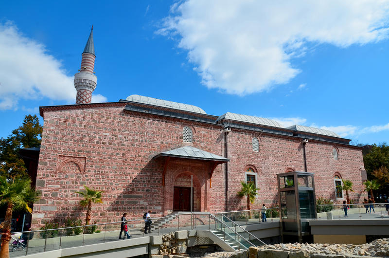 Djumaya Mosque. PLOVDIV BULGARIA SEPT 18: Djumaya Mosque or Ulu Mosque, is a precious architectural monument in Plovdiv that gives an idea of the old settlement royalty free stock images