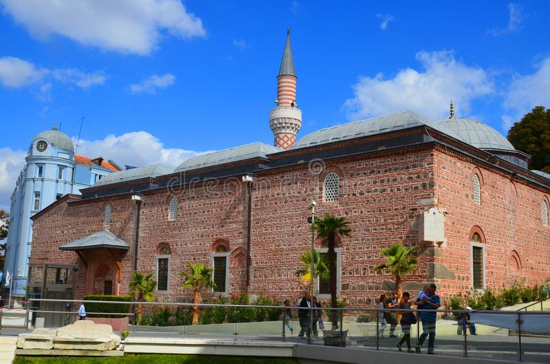 Djumaya Mosque or Ulu Mosque. PLOVDIV BULGARIA SEPT 18: Djumaya Mosque or Ulu Mosque, is a precious architectural monument in Plovdiv that gives an idea of the stock image