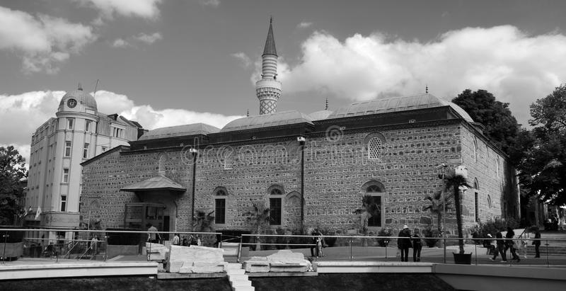 Djumaya Mosque or Ulu Mosque. PLOVDIV BULGARIA SEPT 18: Djumaya Mosque or Ulu Mosque, is a precious architectural monument in Plovdiv that gives an idea of the stock photo
