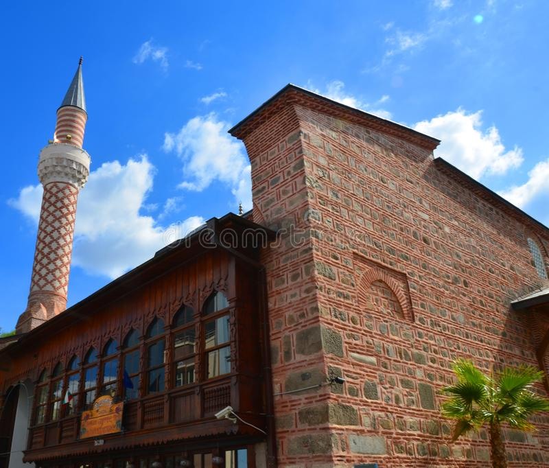 Djumaya Mosque or Ulu Mosque. PLOVDIV BULGARIA SEPT 18: Djumaya Mosque or Ulu Mosque, is a precious architectural monument in Plovdiv that gives an idea of the royalty free stock image