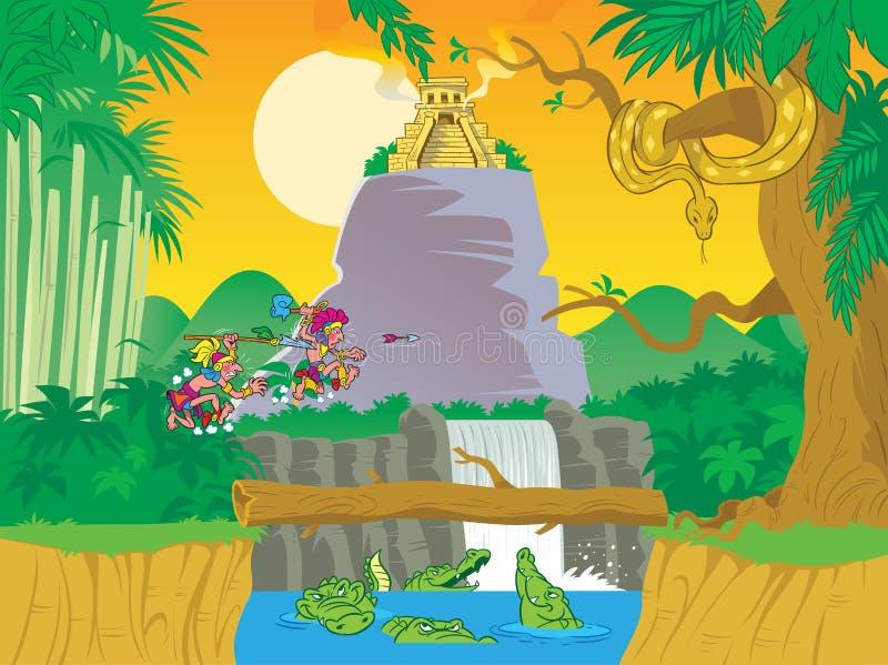 djungel stock illustrationer