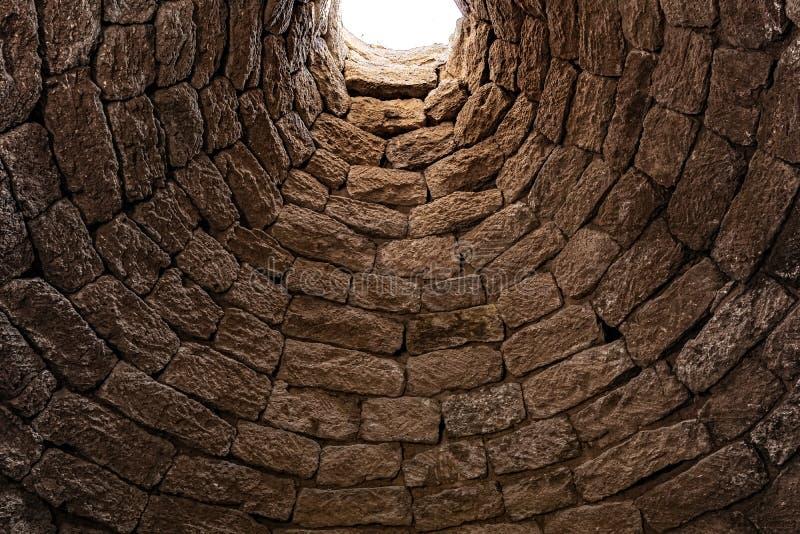 Djup forntida v?l insida arkivbilder