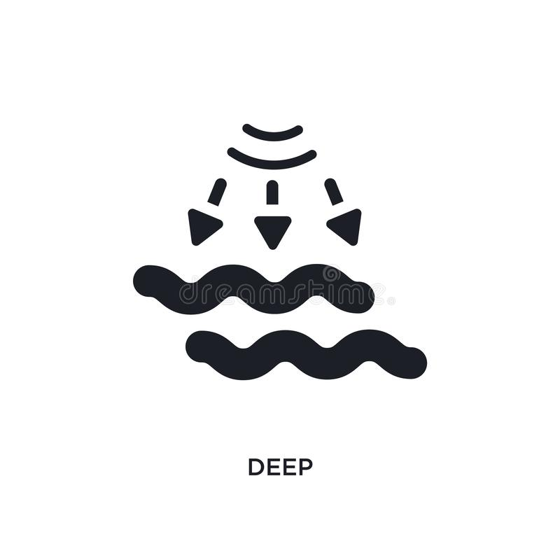 djup isolerad symbol enkel beståndsdelillustration från smarta husbegreppssymboler djup redigerbar design för logoteckensymbol på stock illustrationer