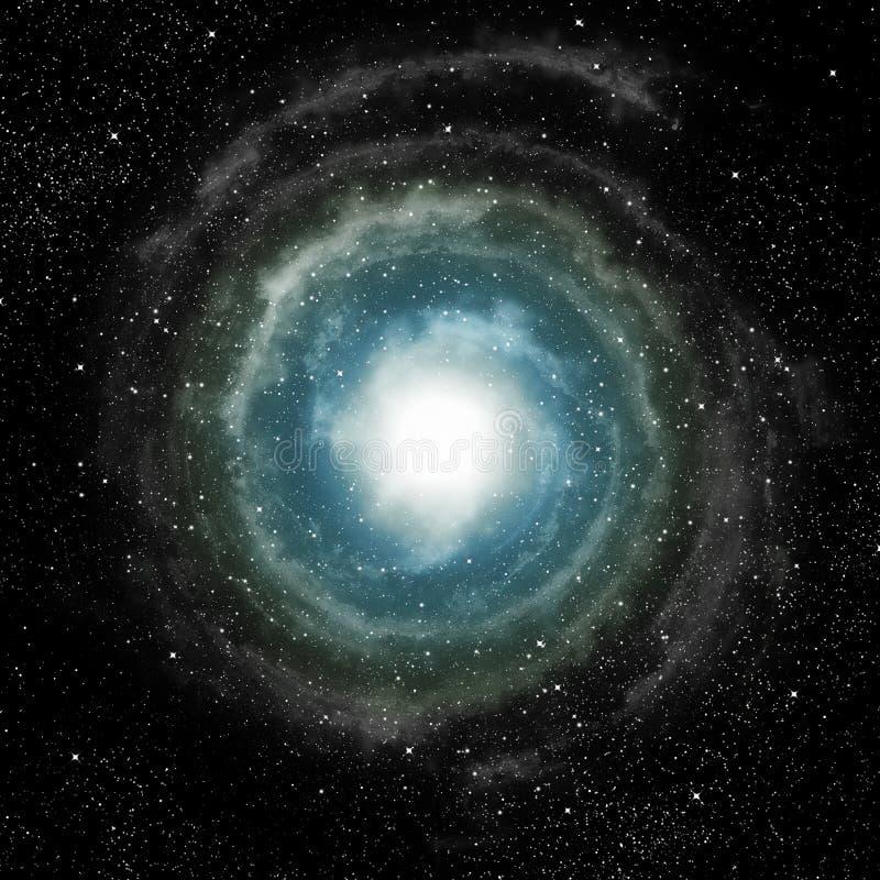 djup spiral för ytterkant avstånd för galax stock illustrationer