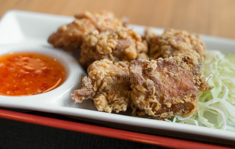 Djup stekt kyckling, valpunktfokus royaltyfri foto