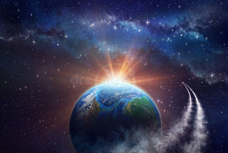 Djup utforskning av rymden arkivfoton